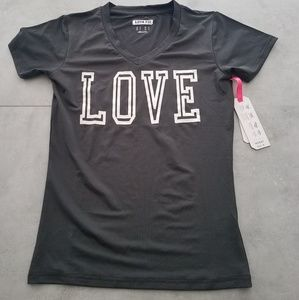 Womens Top Love Grey Activewear S